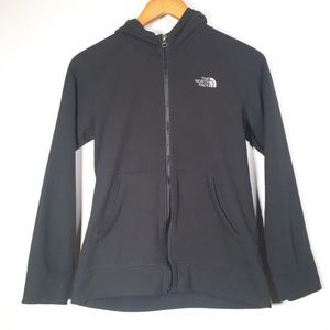 The North Face Boys Large Black Zip Up Fleece